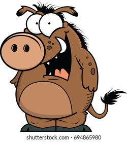 Illustration of a cartoon warthog with a happy expression.