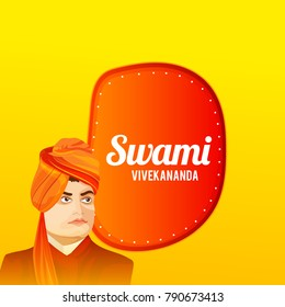 illustration of celebrate swami vivekananda jayanti Background.
