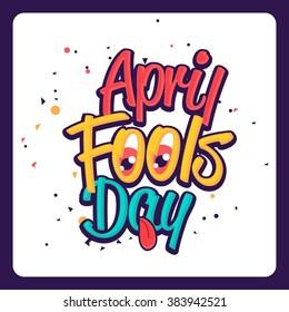 Illustration Celebrating April Fools' Day.