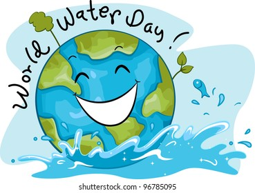 Illustration Celebrating World Water Day