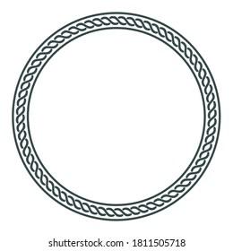Illustration in Celtic Scandinavian style. Celtic braided pattern, mandala, isolated on white, vector illustration