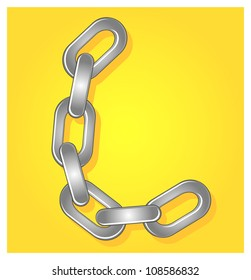illustration of chain font