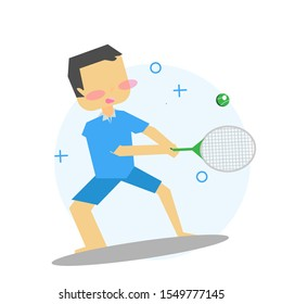 Illustration/ character of children playing sports. kids,  boy sports activity collection vector, illustration.