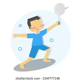 Illustration/ character of children playing sports. kids,boy sports activity collection vector, illustration.