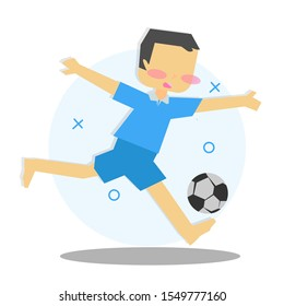 Illustration/ character of children playing sports.