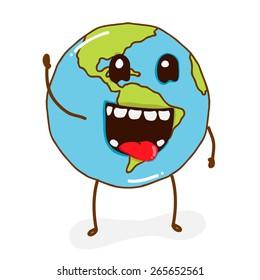 Illustration character planet
