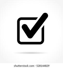 Illustration of check mark icon on white background