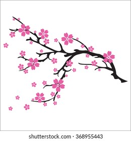 фотообои illustration of cherry blossom tree