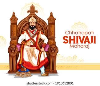 illustration of Chhatrapati Shivaji Maharaj, the great warrior of Maratha from Maharashtra India