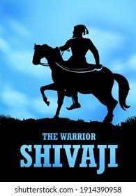 Illustration von Chhatrapati Shivaji Maharaj, dem großen Krieger von Maratha aus Maharashtra Indien