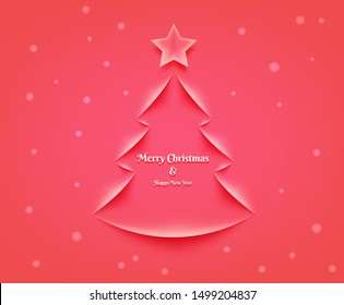 An illustration of Christmas ecard in vector art. For sending to the one you love your wish message, invite them to a party. Message for celebrating Christmas and happy new year, etc.