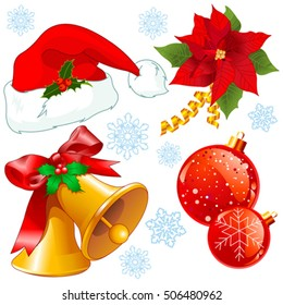 Illustration of Christmas objects collection