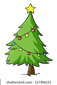 Christmas Tree Cartoon Images Stock Photos Vectors Shutterstock Papa bear and the cubs search the woods for the perfect christmas tree, but run afoul of the woodland animals who live in the trees they aim to cut down. https www shutterstock com image vector illustration christmas tree on white background 117306151