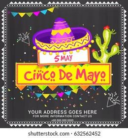 Illustration Of Cinco De Mayo Celebration Background.