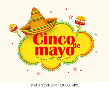 Illustration Of Cinco De Mayo Greeting Card Background.