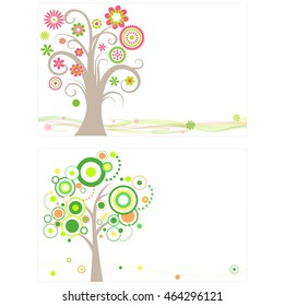 illustration of circle trees