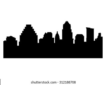 Illustration of the city skyline silhouette - Austin