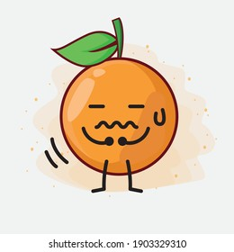 An illustration of Clementine Orange cartoon vector character