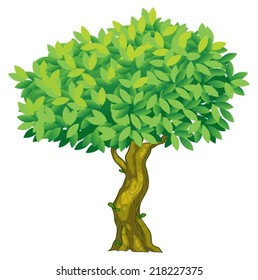 Illustration of a close up tree