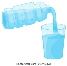 Illustration of a closeup pouring water