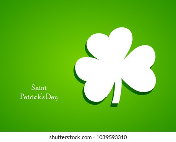 Illustration of Clover leaf for St. Patrick's Day
