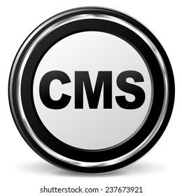 illustration of cms metal icon on white background