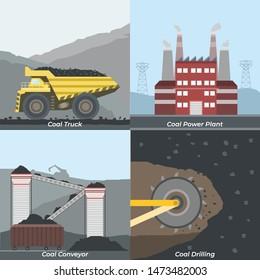 illustration of coal mining activities