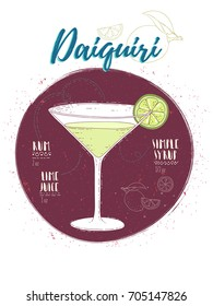 Illustration of cocktail Daiquiri