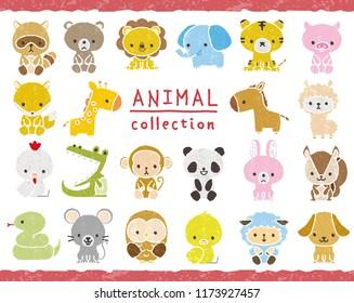 Illustration collection of animals.