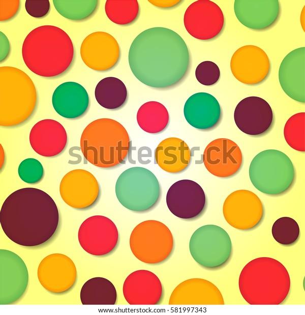 Illustration of colorful background design
