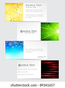 illustration of colorful banner in abstract shape