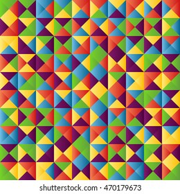 Illustration of Colorful Geometrical Abstract Background.