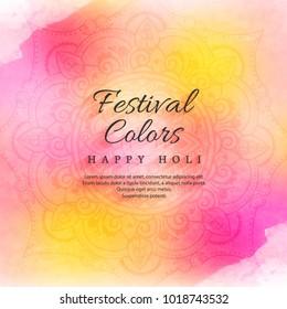 illustration of colorful Happy Holi Background for Festival of Colors celebration