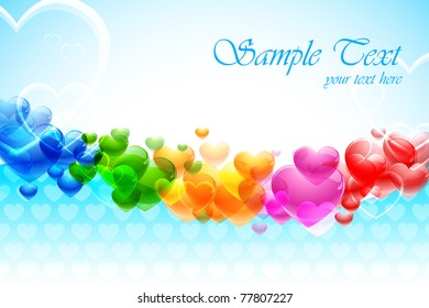 illustration of colorful heart on abstract background