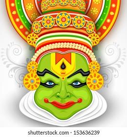 Kathakali Face Images Stock Photos Vectors Shutterstock