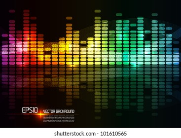 illustration of colorful musical bar showing volume.