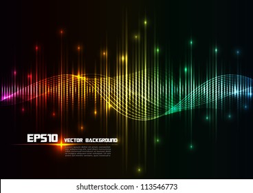 illustration of colorful musical bar showing volume