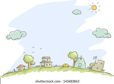 Illustration of Community Sketch Background