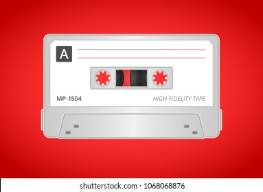 Illustration of a Compact Cassette Tape