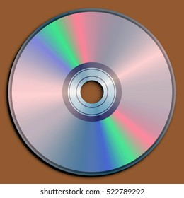 Illustration of a compact disc (CD).