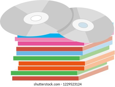 Illustration of compact discs