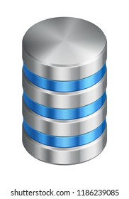 illustration of computer disk vector isometric icon of database with progress bar, EPS 10 contains transparency.