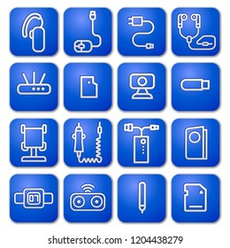 illustration of concept accessories icons for mobile devices