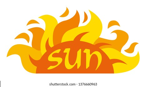 illustration of concept logo of the sun