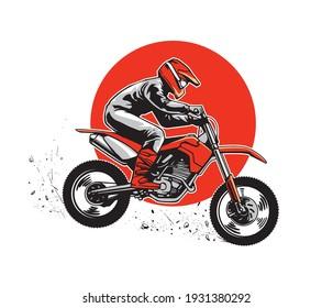 illustration concept of motocross sport