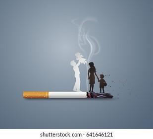 Illustration of concept no smoking day world,31 May.