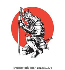 illustration concept of samurai warrior