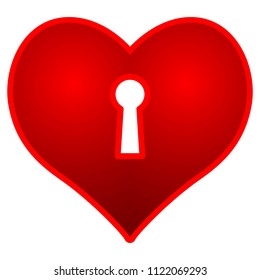 Illustration of the concept valentine's day heart and keyhole icon