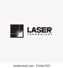 The illustration consists of a laser cutting nozzle in the form of a symbol or logo. Laser cutting engraving