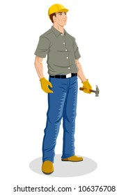 Illustration of a construction worker